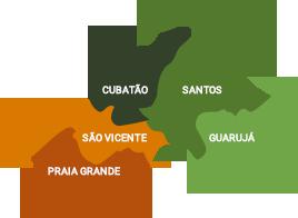 Mapa da Baixada Santista